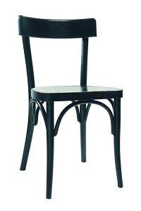 Krzesło gięte AG-133 drewniane w kolorze czarnym