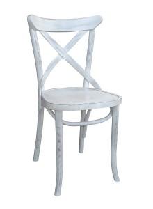 AG-150-P biały przecierany krzesło gięte