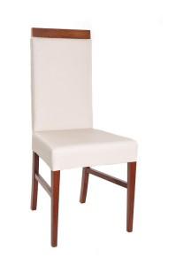 Nowoczesne krzesło białe tapicerowane AS-0804W