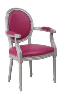 Fotel stylowy B-1001-VP typu Ludwik XVI kolory szary