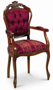Stylowy fotel B-1006-VP2 w stylu Weneckim