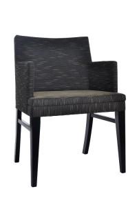 Fotel nowoczesny czarny BS-0807
