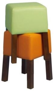 Nowoczesny stołek tapicerowany BST Cubic 46