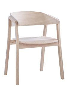 Fotel nowoczesny Cava BS dąb kolor biały sprany