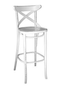 Hoker drewniany gięty Radomsko BSG-150-P krzesło barowe prowansalskie typu thonet