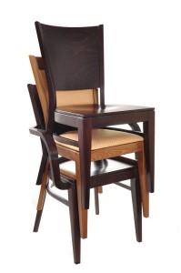 Krzesła i fotele sztaplowane do restauracji Meble Radomsko