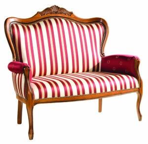 Tapicerowana sofa stylowa dwuosobowa SW-1003-V włoska w stylu weneckim