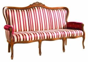Tapicerowana sofa stylowa SW-1003-V3 trzyosobowa włsoka w stylu Weneckim