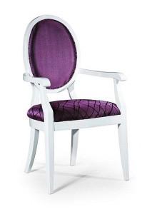 Biały fotel stylowy BK-0255