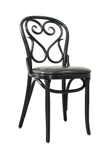Krzesło gięte czarne AG-4 najbardziej gięte krzesło Thoneta