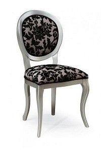 Krzesło stylowe srebrne Meble Radomsko A-1013-V
