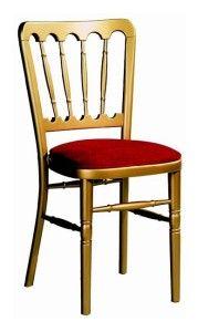 Stylizowane krzesło złote AF-9607