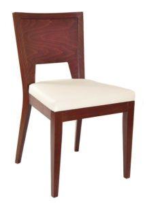 Nowoczesne krzesło drewniane z tapicerką na siedzisku AS-0712