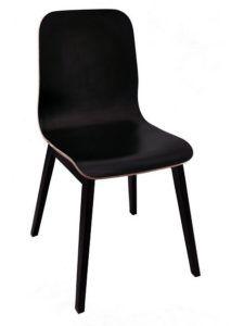 Krzesło nowoczesne czarne AS-1002