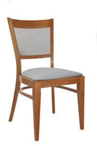 Krzesło nowoczesne szare tapicerowane AT-3904 sztaplowane do restauracji Meble Radomsko