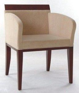 Nowoczesny fotel drewniany tapicerowanyBS-0804