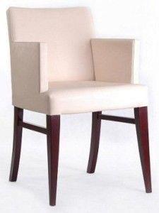 Nowoczesny fotel drewniany tapicerowany BS-0807