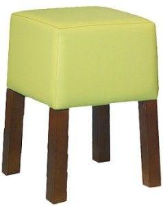 Nowoczesny drewniany stołek tapicerowany BST Cubic 46