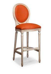 Hoker stylowy tapicerowany BST-1001-V krzesło barowe do baru do kuchni