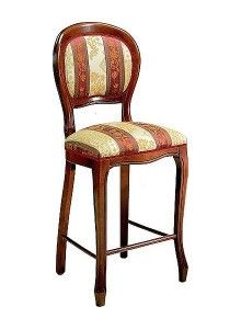 Włoski hoker stylowy tapicerowany BST-1002-V krzesło barowe do kuchni i do restauracji