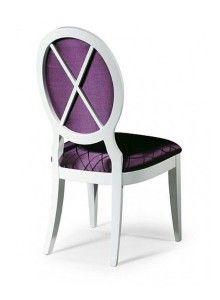 Krzesło stylowe białe AK-0255-tyl