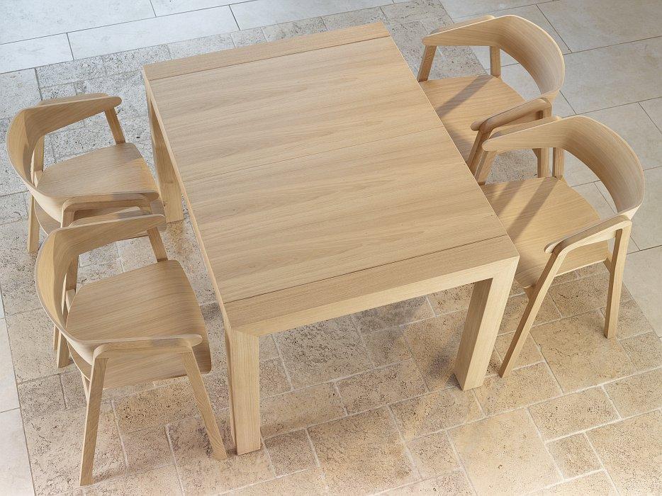 Zestaw jadalniany CAVA i stół Sinple z drewna dębowego