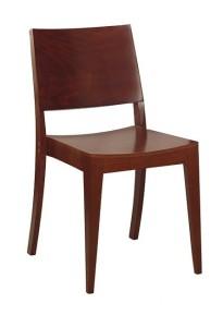 Nowoczesne krzesło sztaplowane AS-0504 drewniane