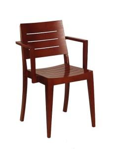 Fotel sztaplowany BS-0501 drewniany do restauracji