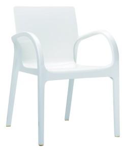 Nowoczesne krzesło kuchenne Deya biały