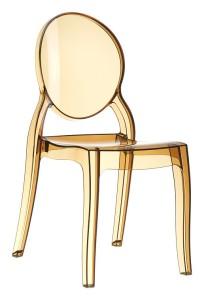 Nowoczesne krzesło do kuchni Eliza plastik bursztyn