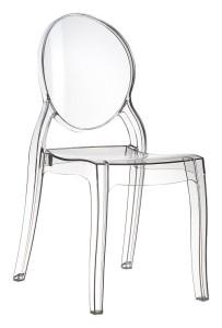 Nowoczesne krzesło do kuchni Eliza plastik clear