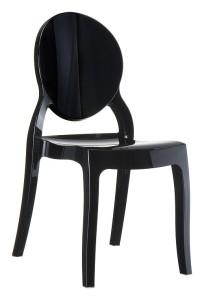 Krzesło nowoczesne czarne plastikowe Eliza