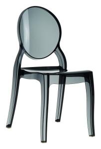 Nowoczesne krzesło do kuchni plastikowe Krzesło Eliza czarny trans