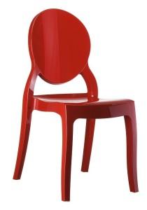 Kuchenne krzesło plastikowe Krzesło Eliza czerwone