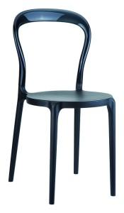 Kuchenne nowoczesne krzesło plastikowe czarne Mister czarny czarny
