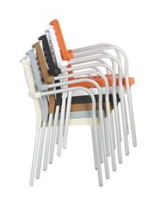 Krzesła plastikowe Bela sztaplowany