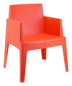 Sztaplowane Krzesło plastikowe Boks pomarańcz