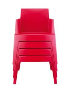 Krzesła plastikowe Boks sztaplowany