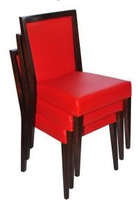 Krzesła restauracyjne sztaplowane Megi AS