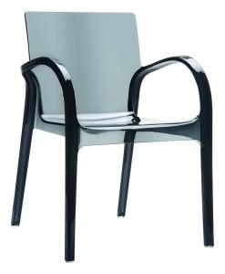 Krzesło z poliwęglanu Deya czarny trans