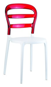 Krzesło Miss białe czerwony