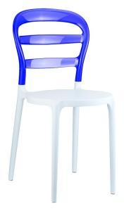 Poliwęglanowe krzesła do kuchni Miss biały fiolet