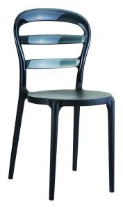 Plastikowe krzesło kuchenne Miss czarny