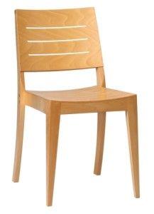 Krzesło sztaplowane drewniane do restauracji A-923S