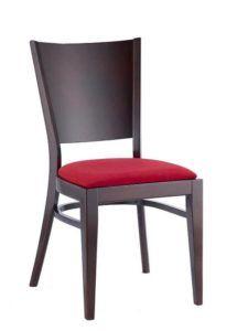 Krzesło restauracyjne drewniane AT-3917 z tapicerowanym siedziskiem