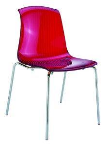 Nowoczesne nowoczesne krzesła kuchenne Alegro czerwony