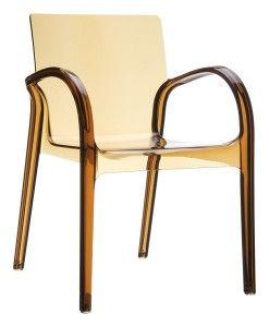 Nowoczesne krzesło kuchenne Deya bursztyn trans