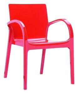Nowoczesne krzesło kuchenne Deya czerwony