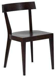 Designerskie minimalistyczne krzesło drewniane EXA-AN