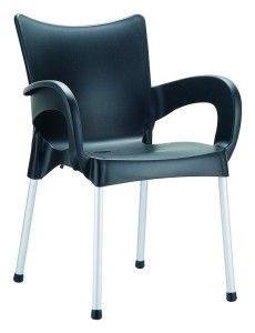 Krzesło sztaplowane Rome czarne